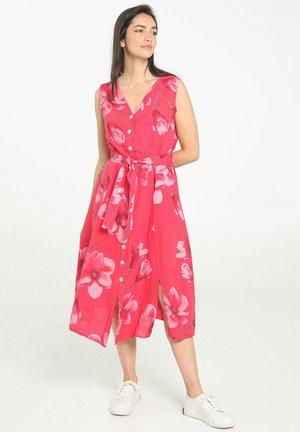 Korte jurk - raspberry