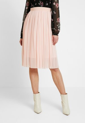 MIDI PLEATED SKIRT - A-Linien-Rock - rose quartz