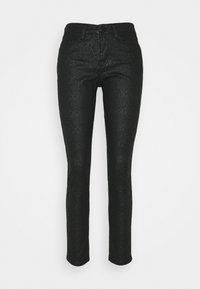 Opus - EMILY CRISTAL SNAKE - Slim fit jeans - black - 0