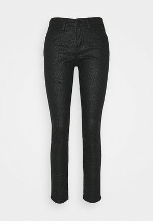EMILY CRISTAL SNAKE - Slim fit jeans - black