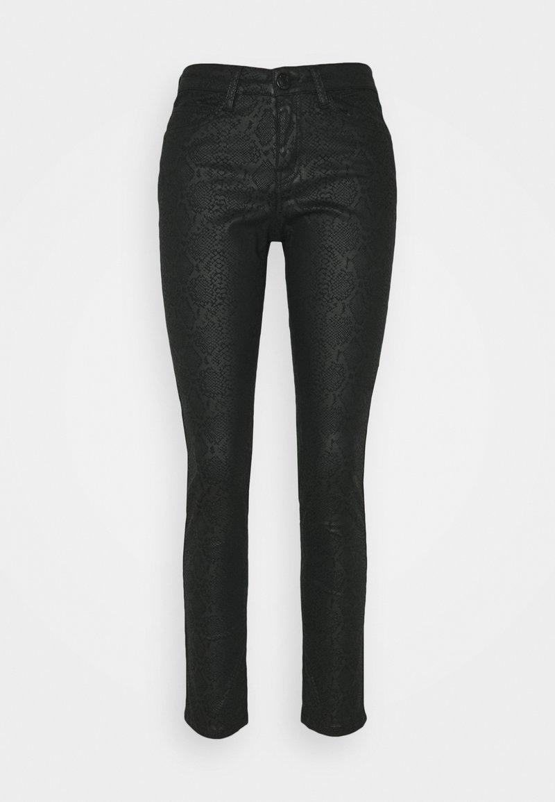 Opus - EMILY CRISTAL SNAKE - Slim fit jeans - black