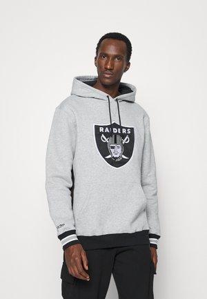 NFL OAKLAND RAIDERS PINNACLE HEAVYWEIGHT FLEECE HOODY - Club wear - grey heather