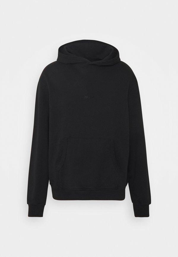 WAWWA UNISEX BASIC LOGO HOOD - Bluza z kapturem - black/czarny Odzież Męska JOVH