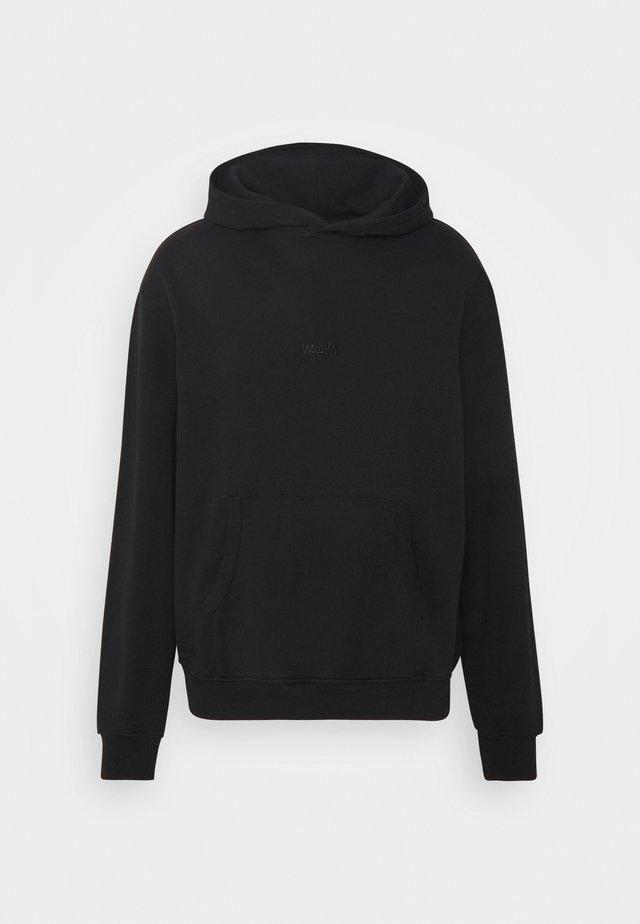 UNISEX BASIC LOGO HOOD - Bluza z kapturem - black