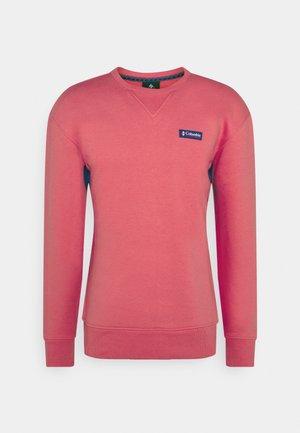 BUGA CREW - Sweatshirt - bright geranium/lapis blue