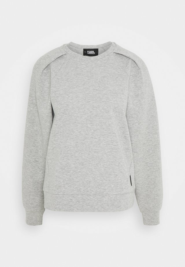 VOLUME SLEEVES - Sweater - grey melange