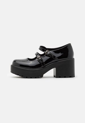 VEGAN MURA DOUBLE STRAP SHOES - Lodičky s platformou - black