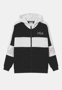 Fila - JULIANO BLOCKED  - Zip-up hoodie - black/bright white - 0
