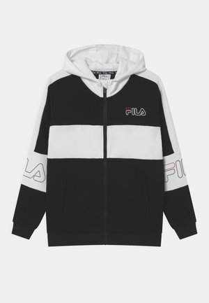 JULIANO BLOCKED  - Sudadera con cremallera - black/bright white