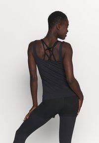 Nike Performance - THE YOGA LUXE TANK - Top - black/dark smoke grey - 2