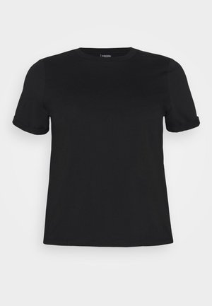 PCRIA FOLD UP SOLID TEE - Basic T-shirt - black
