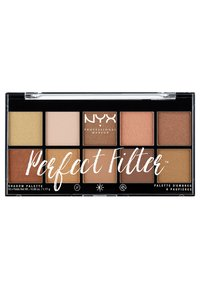 Nyx Professional Makeup - PERFECT FILTER SHADOW PALETTE - Paleta cieni - 1 golden hour - 0