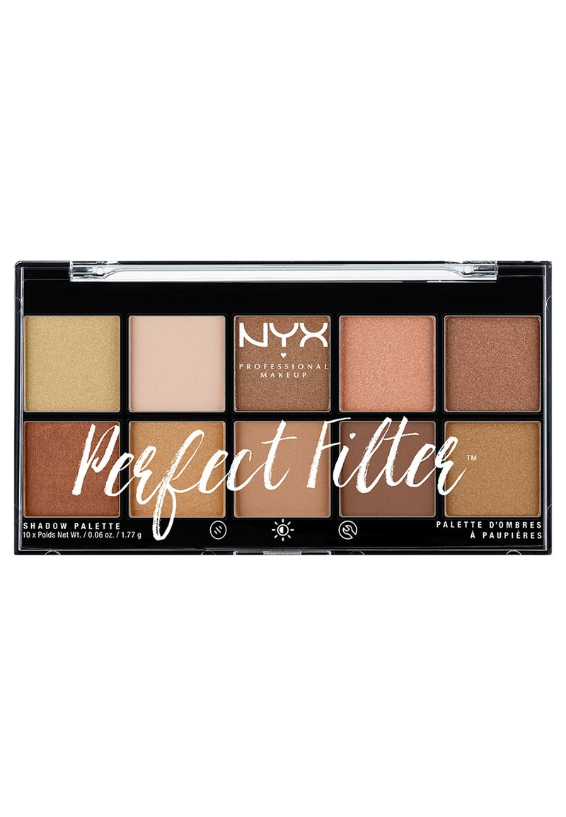 Nyx Professional Makeup - PERFECT FILTER SHADOW PALETTE - Paleta cieni - 1 golden hour