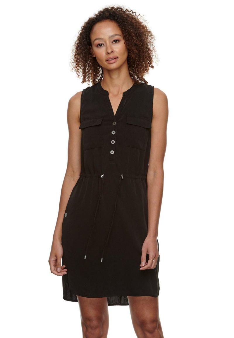 Ragwear - Shirt dress - schwarz