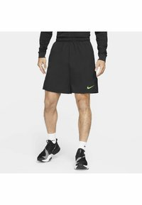 Nike Performance - FLEX SHORT - Träningsshorts - black mean green - 0