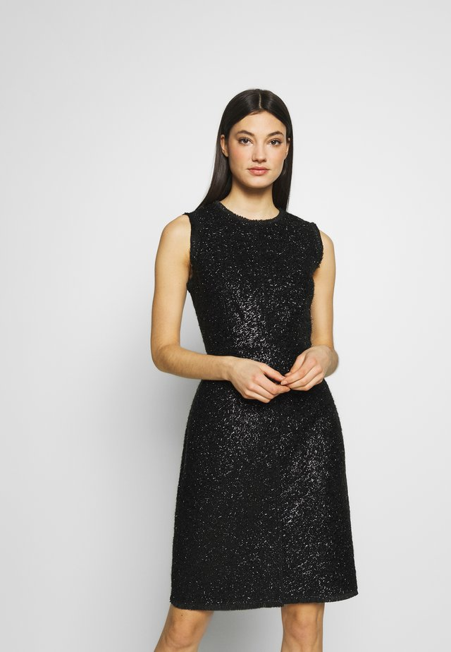 TINSEL TWEED DRESS - Vestido de cóctel - black
