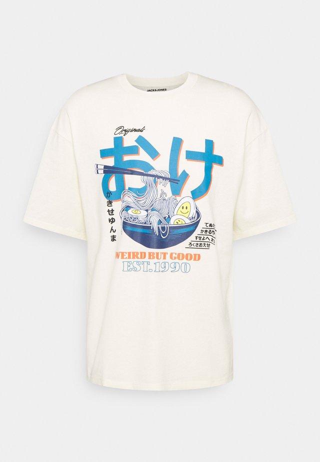 JORPAUL TEE CREW NECK - T-shirts print - cloud cream
