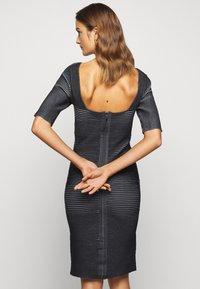Hervé Léger - PLAITED TRANSFER BUSTIER DETAIL DRESS - Jumper dress - black alabaster - 2