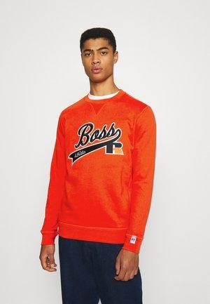 BOSS X RUSSELL ATHLETIC STEDMAN - Sweatshirt - bright orange