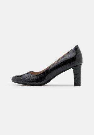 DENVER ALMOND TOE COURT - Classic heels - black