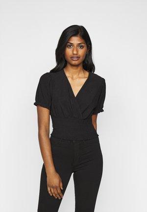 PETITE WRAP TOP - T-shirts med print - black