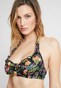Pour Moi - HOT SPOTS HALTER UNDERWIRED - Bikinitop - black - 3