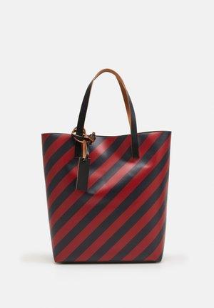 UNISEX - Shopping bag - mosstone/raspberry/black