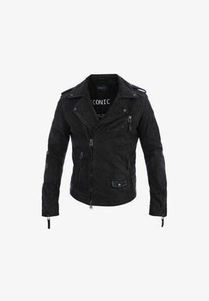 SOLDIER - Leather jacket - dark brown
