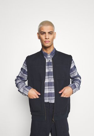FULL ZIP VEST - Chaleco - dark blue