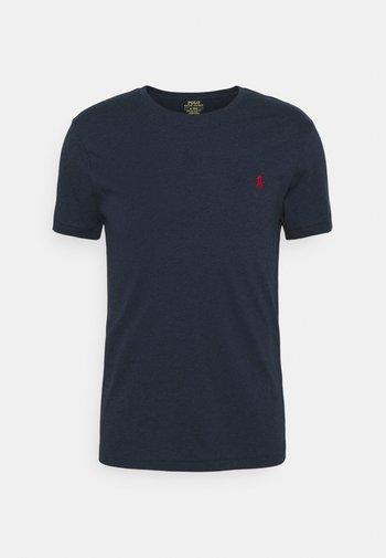 CUSTOM SLIM FIT JERSEY CREWNECK T-SHIRT - T-shirts - medieval blue heather