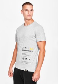 National Geographic - MIT PRINT - Print T-shirt - light grey melange - 0