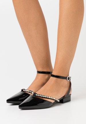 MELANY - Ankle strap ballet pumps - black