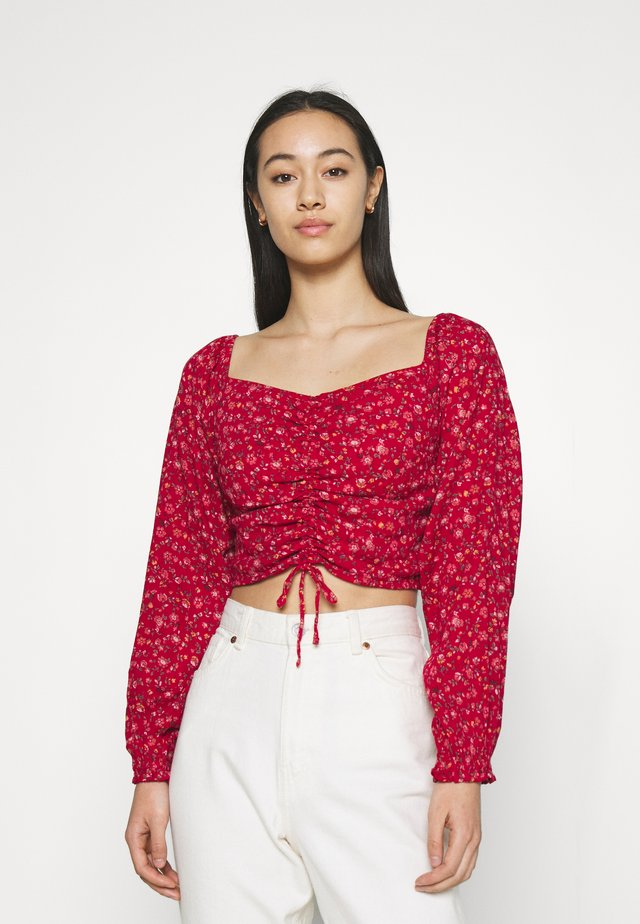 CINCH ON OFF SHOULDER - Blouse - red