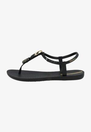 ELLA FEM - T-bar sandals - black/gold