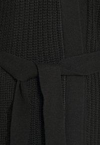 Even&Odd Tall - LONGLINE  MAXI CARDIGAN - Cardigan - black - 2