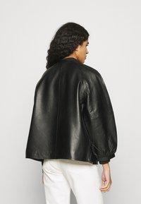 Selected Femme - SLFVERA  O NECK JACKET - Leather jacket - black - 2