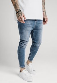 SIKSILK - SIKSILK DROP CROTCH  - Vaqueros pitillo - stone blue denim - 4