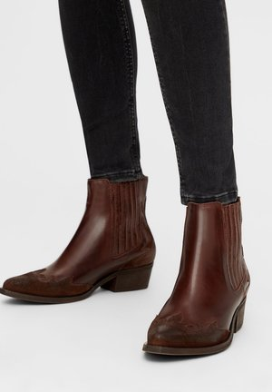 BIADELORA WESTERN CHELSEA BOOT - Cowboy/biker ankle boot - darkbrown