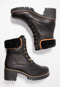 Panama Jack - PHOEBE IGLOO TRAVELLING - Lace-up ankle boots - black - 3