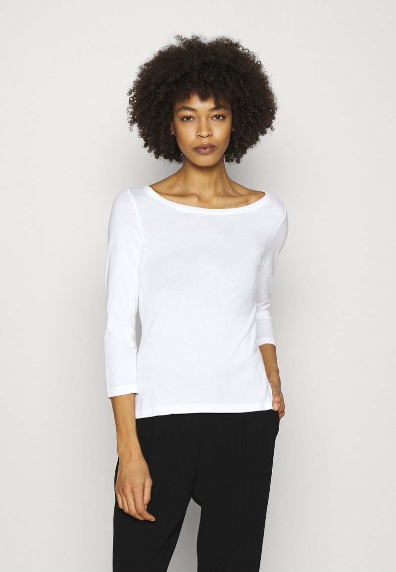 Anna Field - 2 PACK - Long sleeved top - white/black