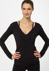 Curare Yogawear - WRAP - Topper langermet - black - 0