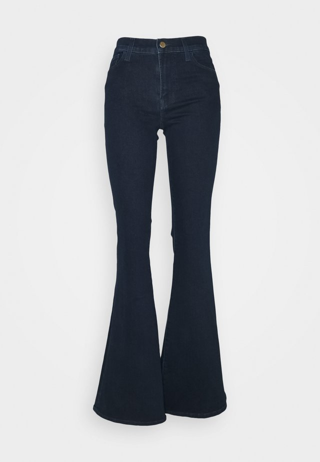 VALENTINA HIGH RISE - Jeans bootcut - dark blue