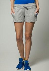 Reebok - JERSY SHORT - Shorts - medium grey heather - 1