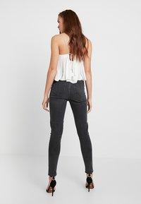 Pieces - PCNINA - Jeans Skinny Fit - dark grey denim - 2