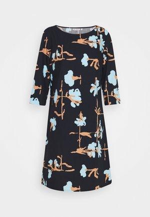 PARVI RISTIKUKKA DRESS - Denní šaty - black/light blue