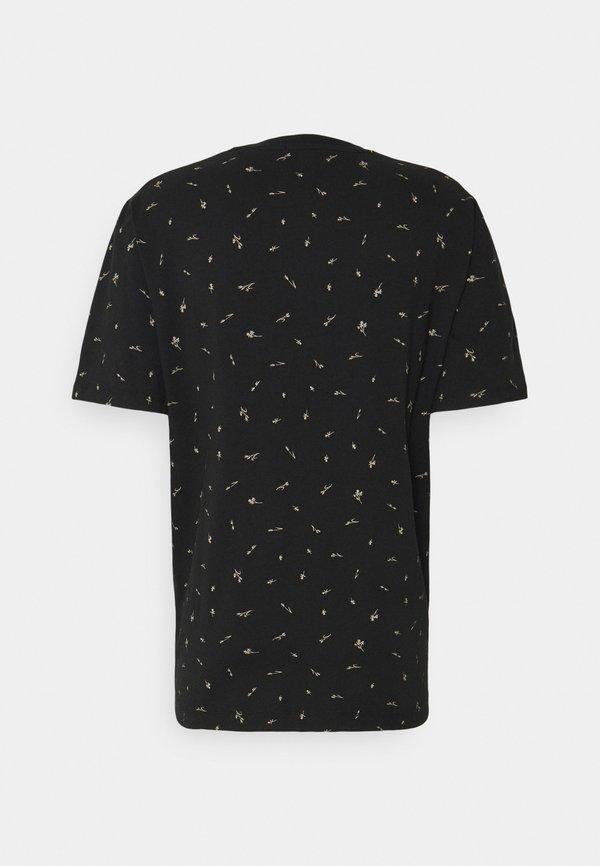 Scotch & Soda CLASSIC CREWNECK - T-shirt z nadrukiem - black/czarny Odzież Męska IIDG