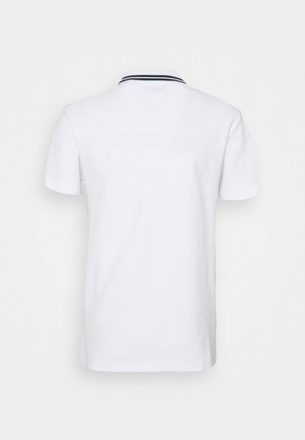 Tommy Jeans MIX MEDIA BAND - Koszulka polo - white/biały Odzież Męska LUEE