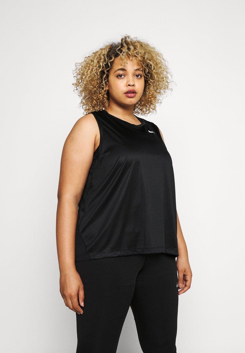 Nike Performance - MILER TANK PLUS - Camiseta de deporte - black/reflective silver