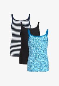 WE Fashion - MET RIBSTRUCTUUR EN KANT, 3-PACK - Top - blue - 3