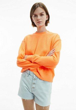 SLUB PANELLED  - Sweatshirt - shocking orange